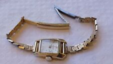 LECOULTRE 14CT GOLD MANUAL WINDING 17 JEWELS LADIES WRISTWATCH