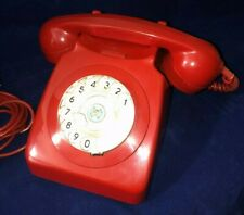Vintage Red Dial Telephone 1960s GPO Telephone 746F DFM