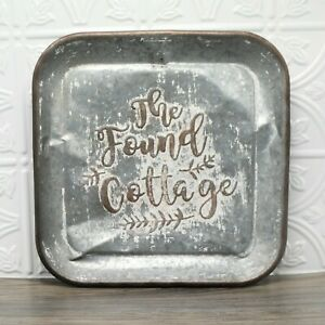 """The Found Cottage Rustic Galvanized Steel Wall Hanger Decor 12"""" X 12"""" x 1"""""""