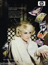 Publicité advertising 2007 Imprimante HP Hewlett packard avec Gwen Stefani