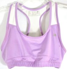Womens New Balance M Racerback Sports Bra Running Lightning Dry Yoga Lavender