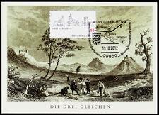 Deutsche Post Maximumkarte 2012 05/2012 Die Drei Gleichen Thüringer Burgenland