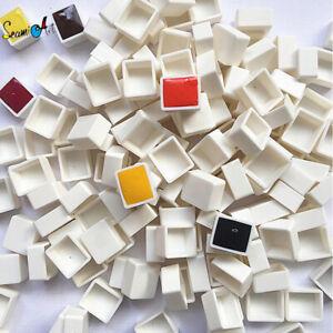 6/12/24/36/48pcs Empty Full/Half Watercolor Pan White Paint Plastic Paint Grid