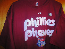 Brand NEW Adult 2XL Phila Phillies PHEVER 08 World Series MLB T-Shirt Team Shirt