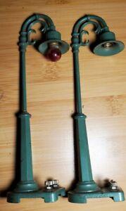 2 Vintage LIONEL 58-19 Lamp Post, Pre-war, O Gaug. Our # t1773