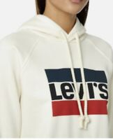 Levi's Women's Graphic Sport Hoodie In Cream Off White