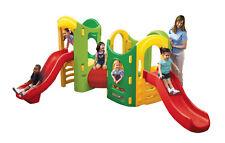 SCIVOLO doppio parco giochi giardino bambini con tunnel trasformabile 2 - 8 anni