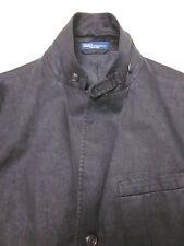 NWT $595 POLO RALPH LAUREN Mens 100% linen Jacket Blazer 44R 44 R washed black