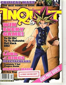 Inquest Gamer Magazine - Jan 2004 # 105  - Cover 2 of 2- Yu-Gi-Oh! - LOTR