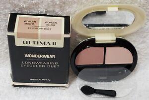Ultima II Wonderwear WONDER MOCHA WONDER BLUSH Eyecolor Duet .12 oz/3.4g New