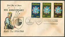 1964 Philippines 10TH ANNIVERSARY MANILA PACT 1954-1964 First Day Cover - B