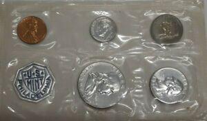 1961 US Mint Silver Proof Set 5 Gem Coins in Original Envelope