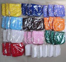 10 Pcs Réutilisable Réutilisable Baby Cloth Diaper Nappy 10 inserts Baby City