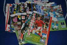 Aston Villa Home Team Football Programmes with Match Ticket