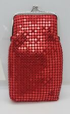 New listing Ryo Red Soft Metal Sequin Mesh 100s Size Fashion Cigarette Pack Case