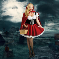 Sexy Women Little Red Riding Hood Cosplay Costume Fancy Dress Party Size S-4XL