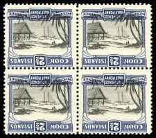 Cook Islands 1932 block of four showing CENTRE INVERTED superb MNH. SG 102 var.