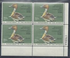 RW53 Fulvous Whistling Duck Mint Fine Never Hinged Plate Block #176844