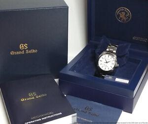 Seiko Grand Seiko SBGA011 Snowflake Titanium Power Reserve Watch Box Papers