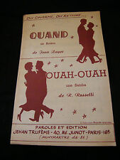 Partition Quand jean Zager Ouah Ouah Rossetti