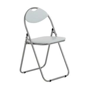 Folding Chairs Padded Faux Leather Studying Dining Office Event Chair White x1