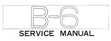 YAMAHA B-6  Service Manual, Repair Techniques, Schematic