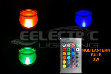 Super BRIGHT 16 Color Changing RGB E26 E27 Decorative Lantern LED Light Bulb 3W