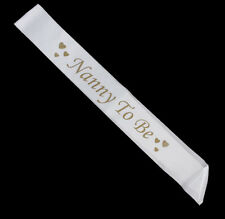 Nanny To Be Sash Gift Decoration Satin Banner Ribbon Baby Shower Party Favor
