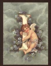 """""""I"""" CLAPSADDLE ALPHABET ANGEL,CHERUB,REPRODUCTION CARD"""