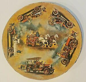 Vintage 1971 Springbok Antique Fire Engines Circular Jigsaw Puzzle