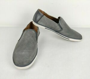 Kenneth Cole Reaction Center Slip On Men's Suede Casual Shoes Gray Size 9.5M
