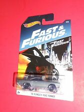 HOT WHEELS FAST & FURIOUS '70 PLYMOUTH ROAD RUNNER 3/8 SHIPS FREE
