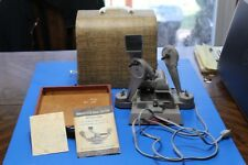 Vintage Mansfield Deluxe Model 800 ~ 8 MM Film Editor Splicer w/Case WORKS!