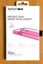 iPhone 5 5s SE Case Evo Mesh Ultra Thin Case tech21 Transparent Pink
