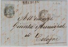 55571 - ITALIA REGNO - STORIA POSTALE: Sassone L18 su BUSTA da DESENZANO 1864