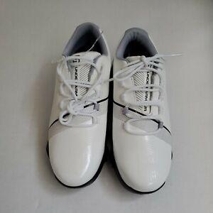 Under Armour Spieth 3 UA JR Golf Shoes White sz 4Y Kids / 5.5 Womens Soft Spikes