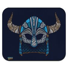 Nordic Viking Warrior Helmet with Horns Low Profile Thin Mouse Pad Mousepad