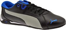 NEW MENS PUMA RACING CAT LEATHER BLACK / GREY / BLUE SIZES 5 TO 7.5 UK