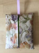 HANDMADE MAKEUP WIPES HOLDER MADE IN FLORAL OILCLOTH FABRIC