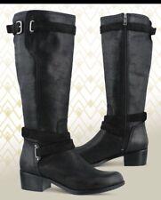 NEW UGG Australia Darcie Black Leather Riding Boots Woman's US 9