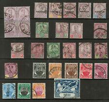 Malaya States - Johore - Lot of 29 stamps, 140