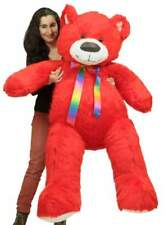 Giant 5 Foot Red Teddy Bear, Big Plush Soft Life Size Stuffed Animal Made in Usa
