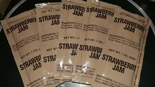 10 X MRE STRAWBERRY JAM 1oz MEALS READY to EAT HIKING CAMPING TEN PACK