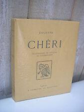 COLETTE : CHERI illustrations couleurs de COURBOULEIX 1 original + suite 1949