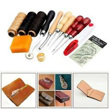 13pcs Leathercarft Punch Tool Kit Stitching Carving Working Sewing Groover MT