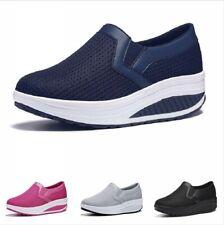 Women Breathable Mesh Comfortable Hidden Heel Sneakers Platform Shoes Casual B