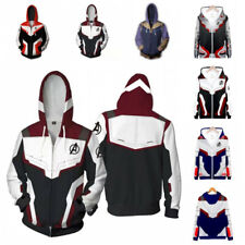 Avengers Endgame Combat Hoodie Men Zipper Coat Jacket Sweatshirt Adult & Child
