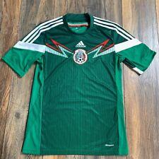 Rare Adidas MEXICO FMF Football Soccer Shirt Brazil 2014 WORLD CUP Jersey~Mens S