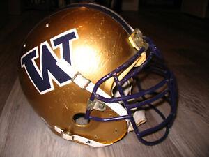 WASHINGTON HUSKIES football helmet- AUTHENTIC game-used