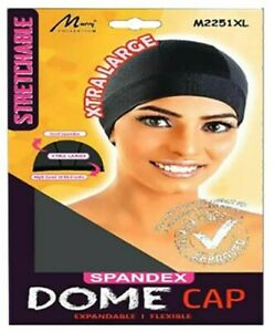Murry Collection Spandex Dome Cap M2251-X-LARGE-BLK-New Large Size-Stretchable
